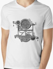 Daily Grind Machine Mens V-Neck T-Shirt