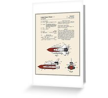 Space Shuttle Patent - Colour Greeting Card