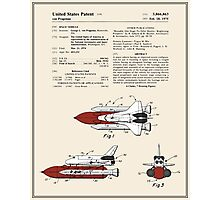 Space Shuttle Patent - Colour Photographic Print
