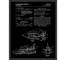 Space Shuttle Patent - Black Photographic Print