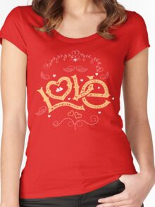 Love Hand-Lettering Women's Fitted Scoop T-Shirt