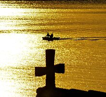 Late Afternoon Sun on Lake Zurich by Darryl Brewer