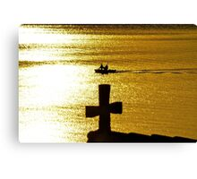 Late Afternoon Sun on Lake Zurich Canvas Print