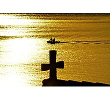 Late Afternoon Sun on Lake Zurich Photographic Print