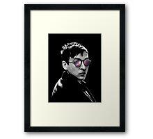 Hipster Oswald (Mono) Framed Print