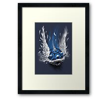 Blue Shell Attack Framed Print