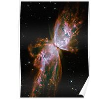 Galaxy Butterfly Poster