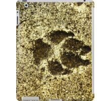 Paw print on cement iPad Case/Skin