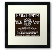 Harry Dresden - Wizard Detective Framed Print