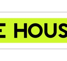 BE HOUSE (ELECTRO GREEN) Sticker