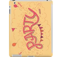 Party Hand-Lettering iPad Case/Skin