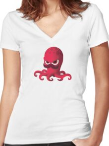 """Bubble Heroes - Boris the Octopus """"Solo"""" Edition Women's Fitted V-Neck T-Shirt"""