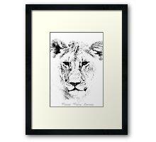 Lion Portrait Framed Print