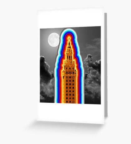 Miami Freedom Tower Cuban Liberty Downtown Brickell Greeting Card
