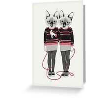 Siamese Twins Greeting Card
