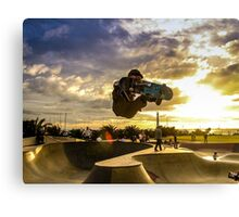 Skateboarder Jump Canvas Print