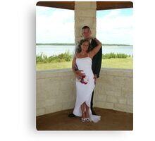 Adam and Kerry Wedding Canvas Print