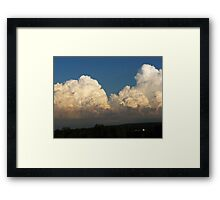Whipped Cream Sky ~ Hamburg, NY Framed Print