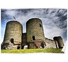 Rhuddlan Castle HDR Poster