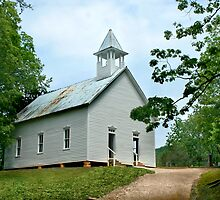 Cades Cove Methodist Church by Lisa G. Putman