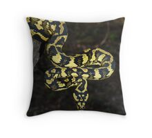 Tully locale Jungle Carpet Python Throw Pillow