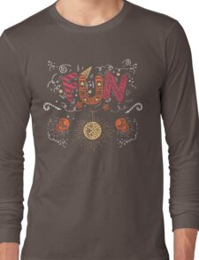 Fun Hand-Lettering Long Sleeve T-Shirt