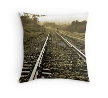 Towards the bend, Throw Pillow