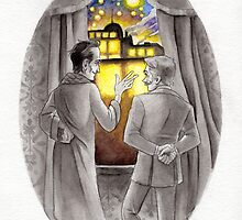 """Life is Infinitely Stranger"""" - Holmes and Watson - 221B version #  by livielightyear"""