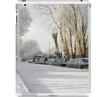 Boats on the Frozen Burton Canal iPad Case/Skin