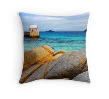 Rocky Ocean Throw Pillow