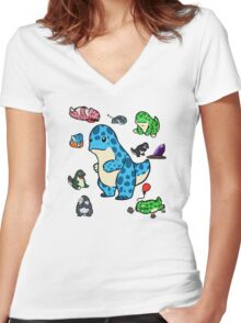 GW2: Quaggans! Quaggans Everywhere! Women's Fitted V-Neck T-Shirt