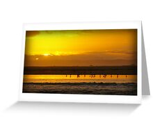 Shallow Inlet Sunset Greeting Card