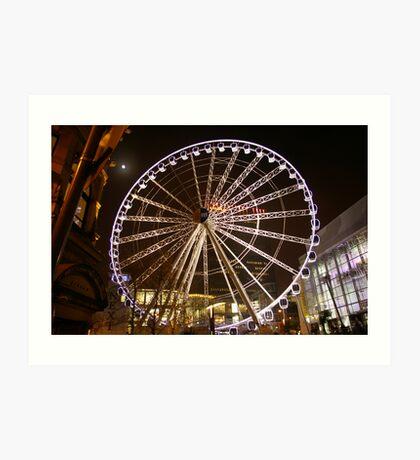 Manchester Wheel Art Print