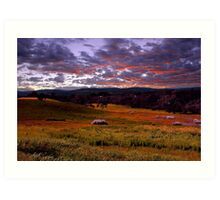 Farmland Sunrise  Art Print