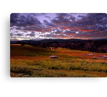Farmland Sunrise  Canvas Print