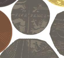 English Coins Shield Sticker