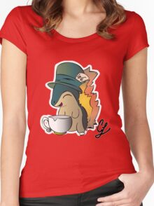 Tea Time Cyndaquil Women's Fitted Scoop T-Shirt