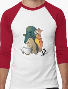 Tea Time Cyndaquil Men's Baseball ¾ T-Shirt
