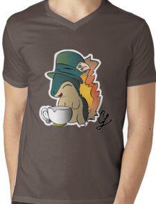 Tea Time Cyndaquil Mens V-Neck T-Shirt