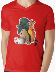 Tea Time Cyndaquil Mens V-Neck T-Shirt