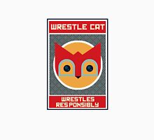 Wrestle Cat wrestles responsibly Womens Fitted T-Shirt