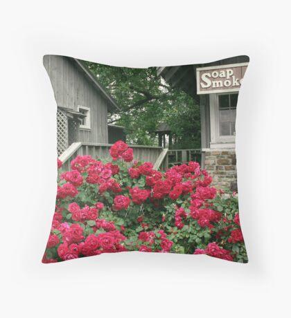 Mountain Roses Throw Pillow