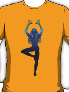 Third Eye Yoga Peacock Pose T-Shirt