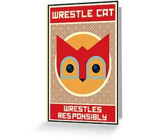 Wrestle Cat  Greeting Card