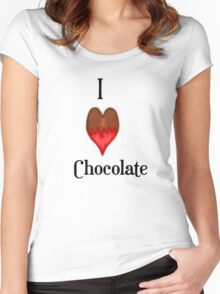 I Love (heart) Chocolate  Women's Fitted Scoop T-Shirt