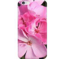 Pink Geranium Cluster iPhone Case/Skin