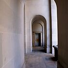 arched corridor by stormyseas
