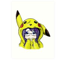Pikachu Onesie Art Print