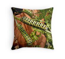 Caterpillar Hangout Throw Pillow