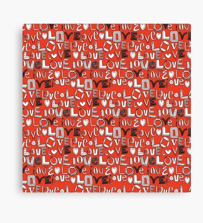 l o v e LOVE red Canvas Print